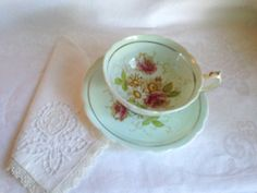 Pleasing Paragon Hand Painted Tea Cup and Saucer, English Teacups