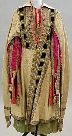 Léon Bakst - Ballets Russes - Costume - Thamar - 1912 70s Fashion, Fashion History, Unique Fashion, High Fashion, Theatre Costumes, Ballet Costumes, Léon Bakst, Ballet Russe, Avant Garde Artists