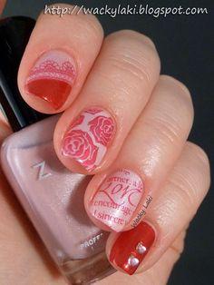 Wacky Laki, 2/10/13: Sunday Stamping: Valentine's Day