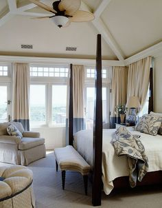 master bedroom, I love the french doors with the windows above and on each side. I'd like something like this in my master.