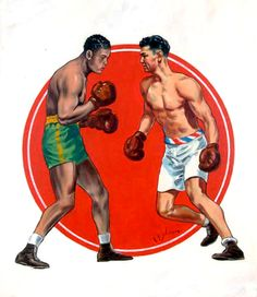 Joe Louis and Jack Dempsey, The Ring Magazine by C. R. Schaare, 1936