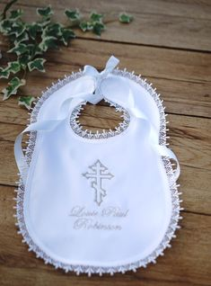 Personalized christening baby bib baptism bib any name