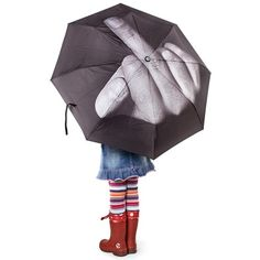 """""""Fuck The Rain"""" Umbrella (Black)  I would like this more for flicking off people who are """"d-bags, messed up ppl instead"""""""