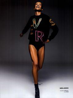 #VersaceEditorials - Neon pleasure. Lampoon Italy - Spring '16 #Versace Styling: Lorenzo Posocco Photo: Daniele Rossi Talent: Nadege du Bospertus