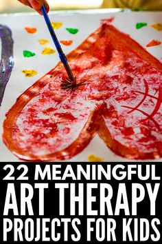 Art therapy for children This collection of simple and creative art therapies is perfect for emotional healing, anger management, to help children deal with feelings related to trauma, grief and divor Grief Activities, Mental Health Activities, Mental Health Art, Counseling Activities, Art Therapy Activities, Art Activities For Kids, Art For Kids, Elementary Counseling, Play Therapy