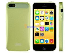 i-Glow 2-in-1 Silicone & Matte Metal Case for iPhone 5S/ 5 (Green)