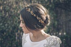 Fina diadema bronce para novias #Novias #Ciudadreal #novias2015