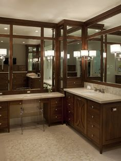 Large Bathroom Vanity With Linen Corner Design, Pictures, Remodel, Decor and Ideas - page 10