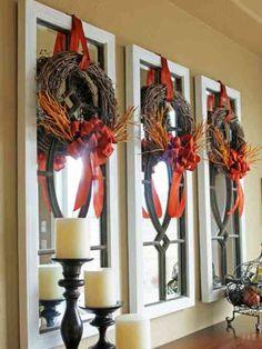décoration de salon et bricolage automnal