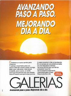 Galerias -mejorando-, mayo 1985