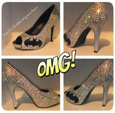 Blinged out Batman heels. Not even a Batman fan but these can SO go on my beautiful shoe-case!