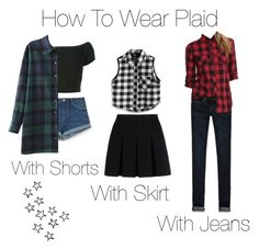 """""""How To Wear Plaid"""" by nonanana ❤ liked on Polyvore featuring Hollister Co., Alice + Olivia, Chicwish, Alexander Wang and Zara"""