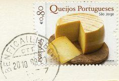 Gastronomy - Cheese São Jorge Azores postage stamp - Portugal.
