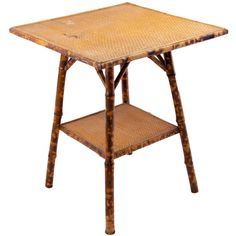 Victorian Tortoise Shell Bamboo and Woven Cane Plant Stand | From a unique collection of antique and modern side tables at http://www.1stdibs.com/furniture/tables/side-tables/