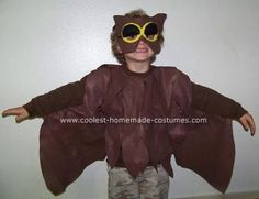 Owl Costume: This owl costume I made for my son to dress up in this fall. In this  moment in time he really wants to know about animals and seasons of the years. He
