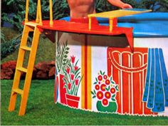 Amazon.com: Barbie POOL PARTY Playset w Pool, Sundeck, Diving Board & MORE! (1973 Mattel Hawthorne): Toys & Games Price: $349.99 + $8.19 shipping Only 1 left in stock. Barbie Games, Barbie Dolls, Diving Board, Game Prices, Toys, Outdoor Decor, Party, Amazon, Activity Toys