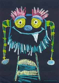 Credit: Niamh Sharkey This oil pastel monster is a change of style based on my favourite theme… monsters!