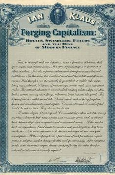 Forging Capitalism / Ian Klaus  http://encore.greenvillelibrary.org/iii/encore/record/C__Rb1383226