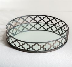 Interlude Uma Tray. A classic Moorish design encircles this glass tray and makes for a great looking versatile accessory suitable for almost any room in the home. – Modish Store