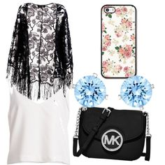 Untitled #242 by evanmonster on Polyvore featuring polyvore fashion style Pussycat MICHAEL Michael Kors Swarovski