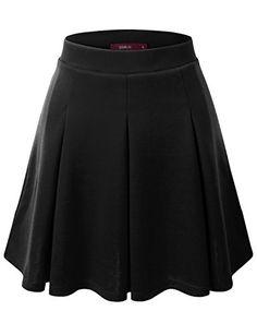 Doublju Elastic Waist Stretchy Flared Skater Skirt (Plus ... https://www.amazon.com/dp/B019O671XE/ref=cm_sw_r_pi_dp_x_Guhczb4SP7JJM