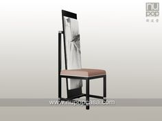 新中式家具 靠山椅 上海新波普艺术家具 modern Chinese style high back chair designed by Tommy Chen and Nupopcasa