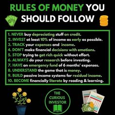 The rules of Financial Success Whats your opinion? Are you going to - Ecommerce - Start your online business with 14 days free trial - - The rules of Financial Success Whats your opinion? Are you going to implement any of these rules into your strategy? Financial Quotes, Financial Success, Financial Literacy, Financial Ratio, Budget Planer, Business Motivation, Motivation Success, Entrepreneur Motivation, Success Quotes