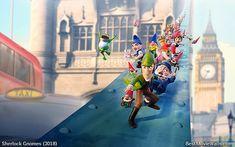#SherlockGnomes and his friends sliding down London Bridge in this hd #wallpaper :]