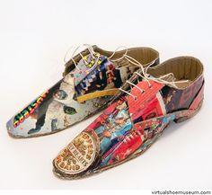 Cardboard shoes Beatles   virtualshoemuseum.com