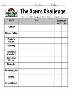 genre challenge log