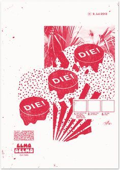 screenprinted Poster for the venue Elmo Delmo, by Comet Substance
