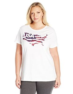 Just My Size Women's Plus-Size Short Sleeve Crew Neck Tee >>> For more information, visit image link.