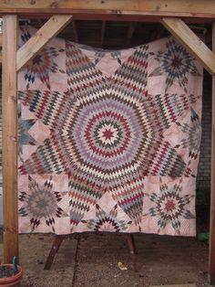 Primitive Texas Lone Star Patchwork Quilt AAFA Early Americana Folk Art   eBay, kohinoor*
