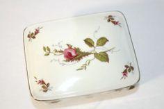 Eschenbach Briar Rose Jewelry Box, German Porcelain Trinket Box