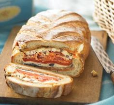Would love to see this come out of a picnic hamper!  Picnic loaf | Australian Healthy Food Guide