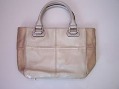 NEW Tignanello Leather Purse Mini Tote Handbag Soft Gold/Satin Medal NWOT  #Tignanello #TotesShoppers