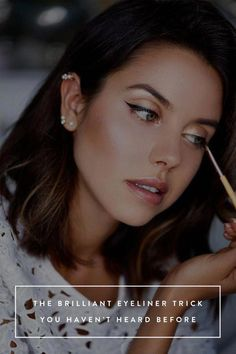 "Outstanding ""eyeliner for beginners"" info is available on our internet site. Read more and you wont be sorry you did. #MakeupTutorialEyeliner Eyeliner Hacks, Makeup Tutorial Eyeliner, Eyeliner Styles, How To Apply Eyeliner, Eye Makeup, Winged Eyeliner, Eyeliner Waterline, Natural Eyeliner, Eyeliner Brands"