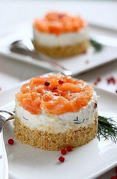 Cheesecake di salmone e ricotta