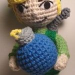 Legend of Zelda Toon Link plushie (with free crochet pattern)