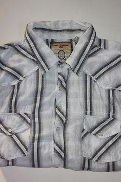 9c1412f7 Supply Company USA XXL Pearl Snap Western Cowboy Rodeo Casual Shirt Mens  2XL #SupplyCompany #