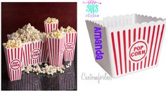 PRE HOLIDAYS SALE Set of 7 Popcorn Bowls/ cups 1 by Customforless