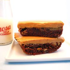 Elvis Peanut Butter Banana Brownies from motherfudger