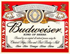 Budweiser Label Tin Sign is a brand new vintage tin sign made to look vintage, old, antique, retro. Purchase your vintage tin sign from the Vintage Sign Shack and save. Tin Signs, Wall Signs, Hanging Signs, Cave Bar, Blood Bowl, Decorative Signs, Metal Tins, Vintage Advertisements, Cigars