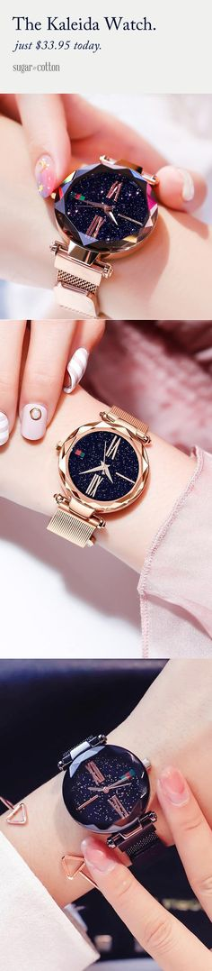 The Stunning Kaleida Watch 55 Cute Jewelry, Jewelry Box, Jewelry Watches, Jewelry Accessories, Fashion Accessories, Fashion Jewelry, Jewellery, Bling, Things To Buy