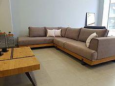 ΚΑΝΑΠΕΣ ΓΩΝΙΑ BALI Sofa, Couch, Home Interior Design, Living Room Designs, Diy Wood, Modern, Furniture, Home Decor, Wooden Sofa