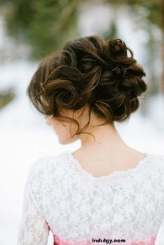 Wedding Hairstyles Twisted Chignon Wedding Updo - Wedding up do hairstyles are a huge favourite among new brides these days. Given here are 10 wedding hair updos for you to check out and try out on your D-day 2015 Hairstyles, Bride Hairstyles, Holiday Hairstyles, Evening Hairstyles, Romantic Hairstyles, Beautiful Hairstyles, 1930s Hairstyles, Hairdos, Simple Hairstyles