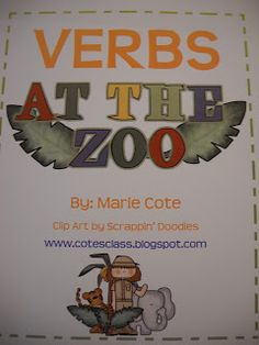 Rulin' The Roost gives great examples of how to use my VERBS at the ZOO packet!