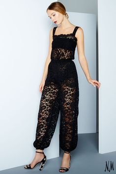 Give your jumpsuit a chic upgrade courtesy of alluring lace. Perfect for after-dark affairs, finish the look with statement heels and a messy up-do.