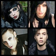 Andy Biersack thru time ~ black veil brides
