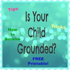 What to Do with Your Grounded Child PRINTABLE!